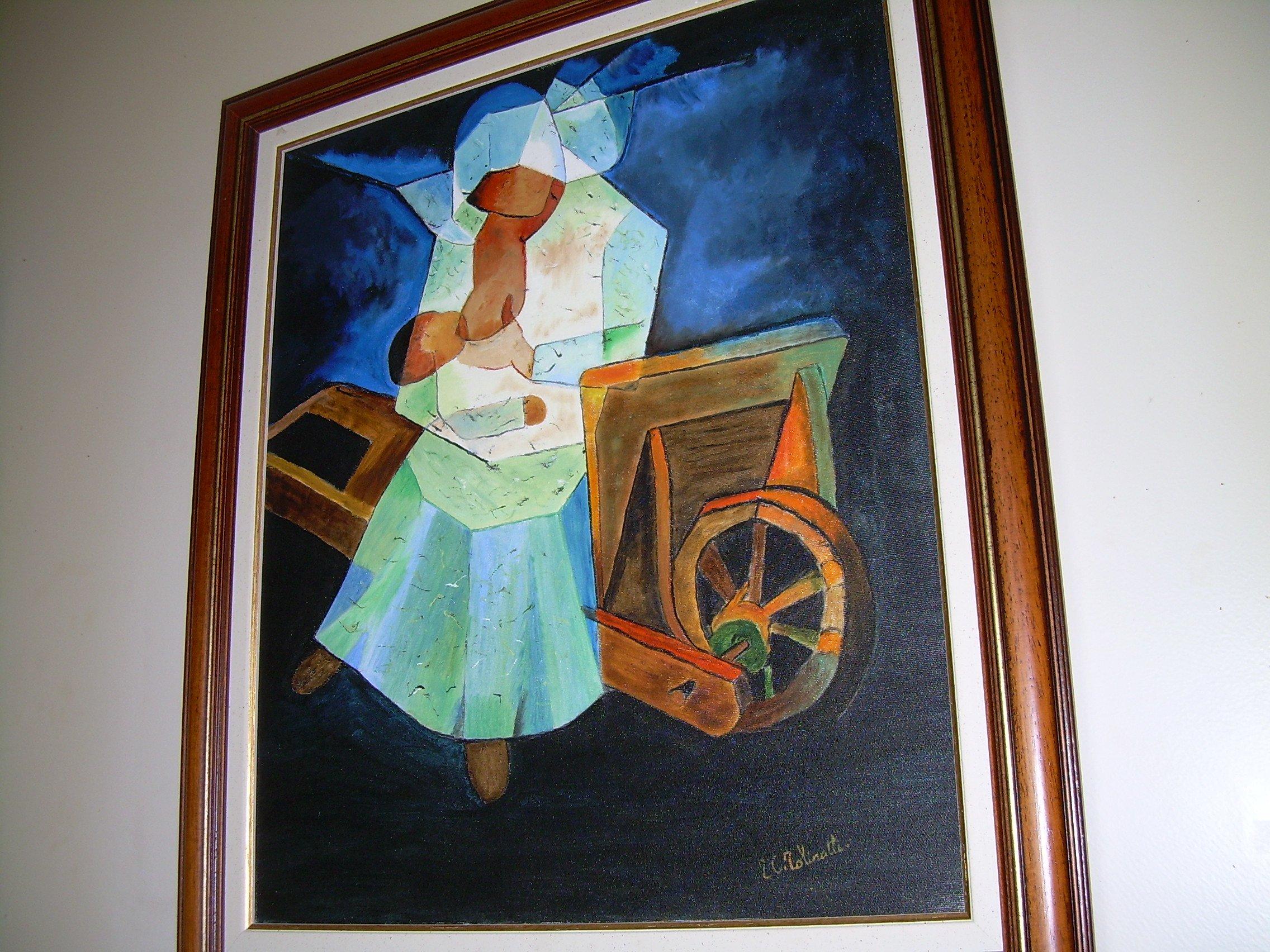 copie de ce peintre que j'adore TOFFOLI et il a une histoire j'attendais la naissance de ma petite fille quand j'ai vu la litho en rentant dans les ardennes je l'ai reproduit